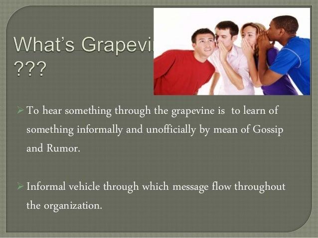 define grapevine in business communication