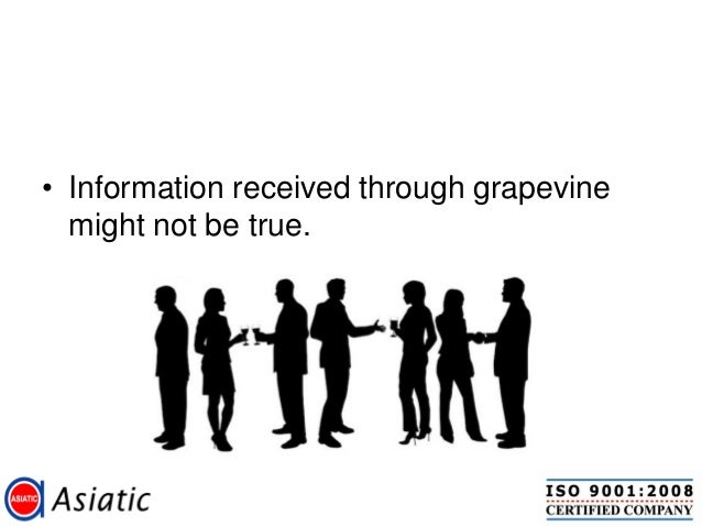 Grapevine communications for first line manager