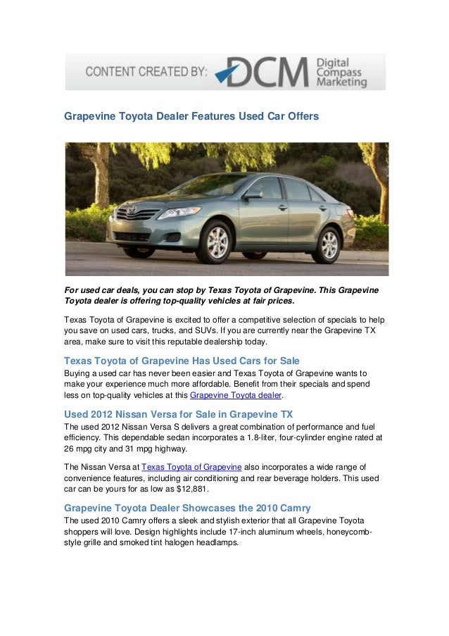 Grapevine Toyota Dealer Features Used Car Offers 1 638 Jpg Cb 1373036428