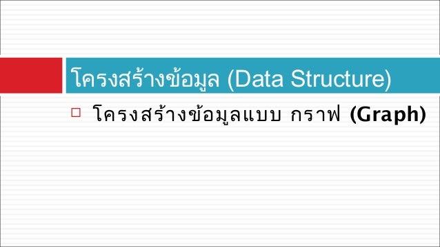  โครงสร้างข้อมูลแบบ กราฟ (Graph) โครงสร้างข้อมูล (Data Structure)
