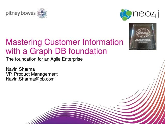 Mastering Customer Information with a Graph DB foundation The foundation for an Agile Enterprise Navin Sharma VP, Product ...