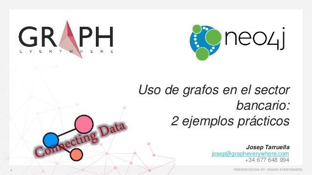 Uso de grafos en el sector bancario: 2 ejemplos prácticos Josep Tarruella josep@grapheverywhere.com +34 677 648 994