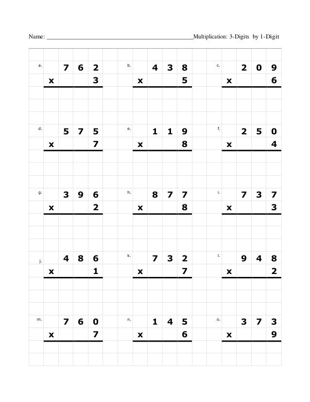 Multiplication 1 12 multiplication worksheets : Graph multiplication-3dig