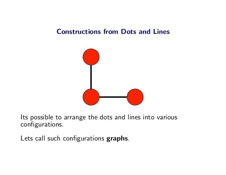 Constructions from Dots and Lines     Its possible to arrange the dots and lines into various configurations. Lets call suc...