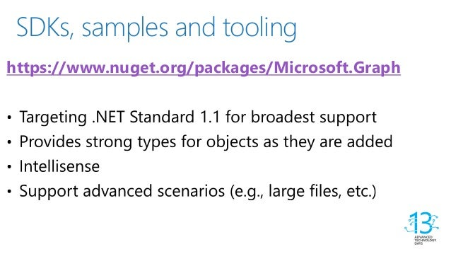 ATD 13 - Enhancing your applications using Microsoft Graph API