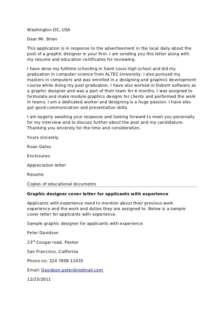 Writing Cover Letter Graphic Design