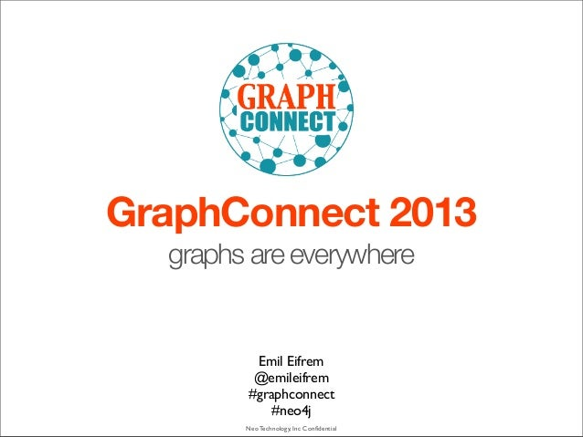 Neo Technology, Inc Confidential GraphConnect 2013 graphs are everywhere Emil Eifrem @emileifrem #graphconnect #neo4j