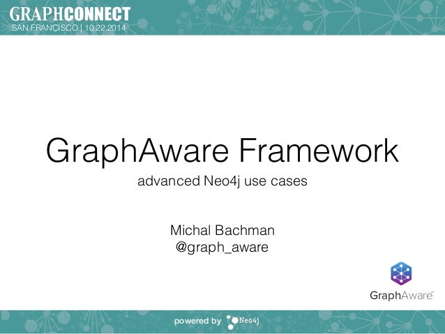 GraphAware Framework  advanced Neo4j use cases  !  !  Michal Bachman  @graph_aware  SAN FRANCISCO | 10.22.2014  powered by...