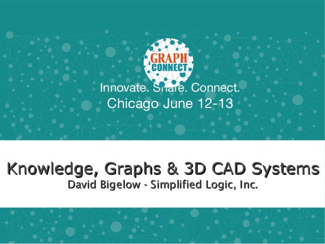 Innovate. Share. Connect.Chicago June 12-13Knowledge, Graphs & 3D CAD SystemsKnowledge, Graphs & 3D CAD SystemsDavid Bigel...