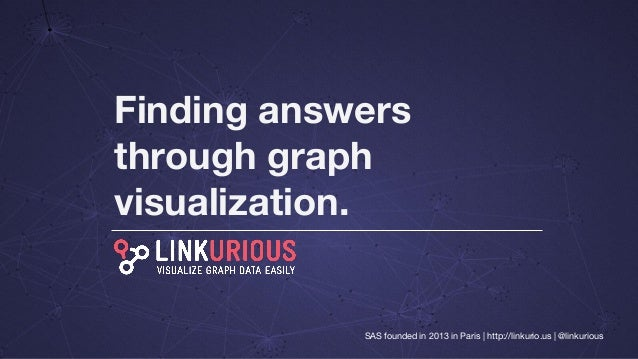 Finding answers through graph visualization. SAS founded in 2013 in Paris | http://linkurio.us | @linkurious
