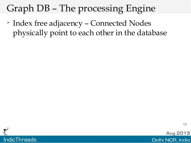 13 Graph DB – The processing Engine  Index free adjacency – Connected Nodes physically point to each other in the database