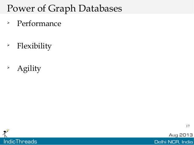17 Power of Graph Databases  Performance  Flexibility  Agility