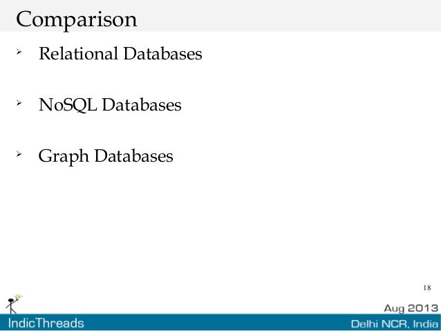18 Comparison  Relational Databases  NoSQL Databases  Graph Databases