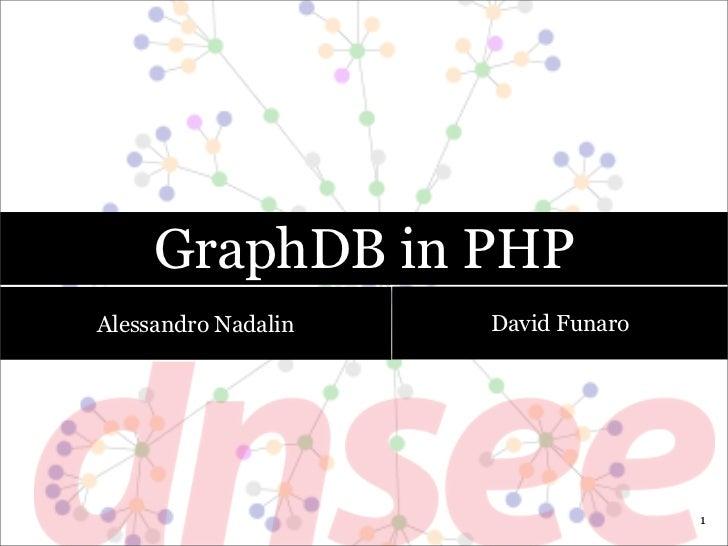 GraphDB in PHPAlessandro Nadalin   David Funaro                                    1