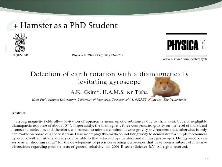 + Hamster as a PhD Student                             11