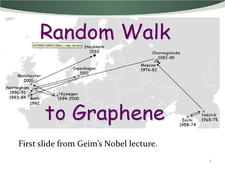 First slide from Geim's Nobel lecture.                                         6