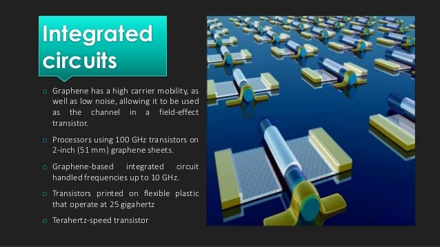 Optical Electronics  Graphene's high electrical conductivity and high optical transparency make it a candidate for transp...