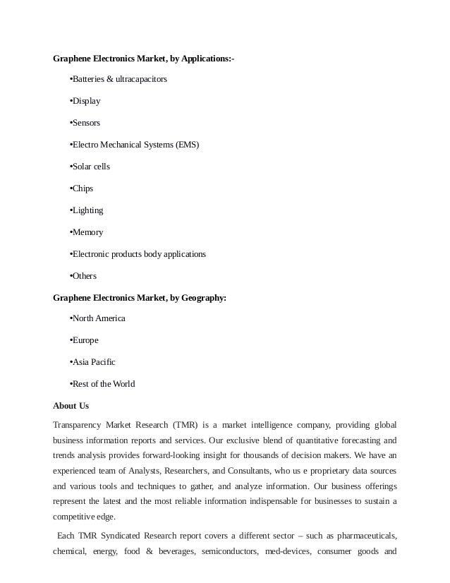 Graphene Electronics Market Present Scenario And The