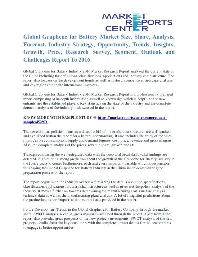 Graphene For Battery Market Key Vendors, Trends and