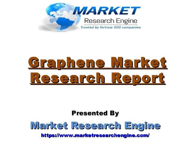 Graphene MarketGraphene Market Research ReportResearch Report Presented ByPresented By Market Research EngineMarket Resear...