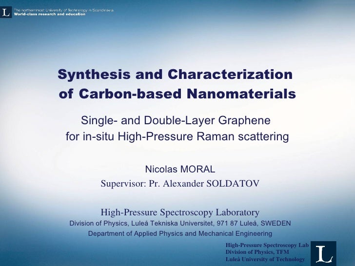 Master thesis graphene