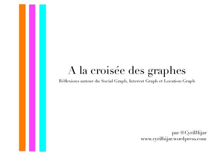 A la croisée des graphesRéflexions autour du Social Graph, Interest Graph et Location Graph                                ...