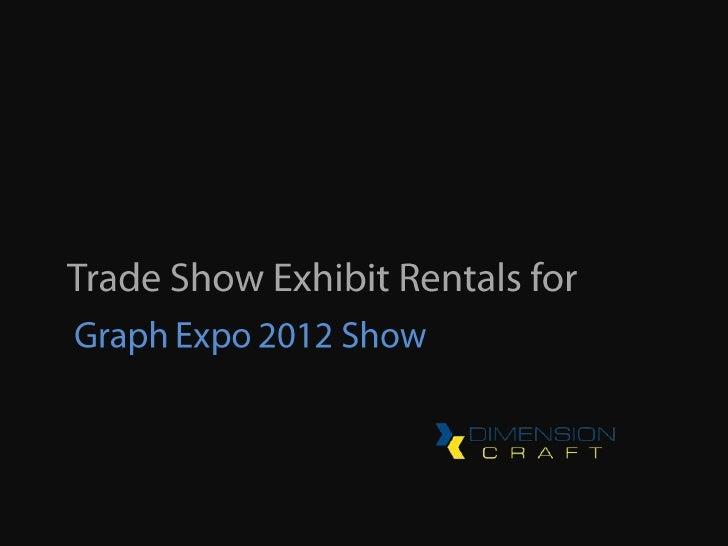 Exhibiting at GE2012?