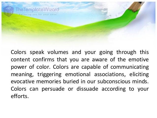 Graphic Designing Psychology of Color Slide 2