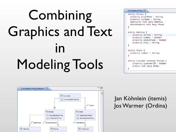 Combining Graphics and Text        in  Modeling Tools                      Jan Köhnlein (itemis)                     Jos W...
