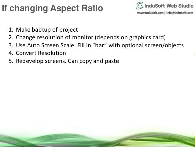 Graphical Interface Scaling in InduSoft Web Studio