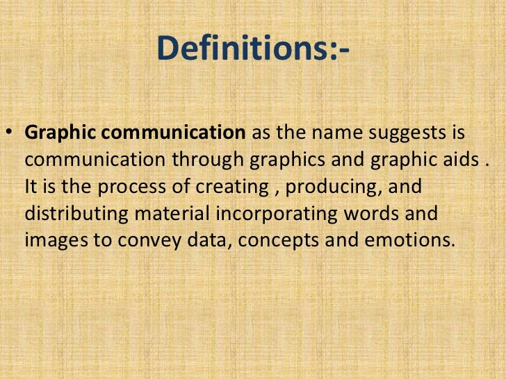 Graphic communication Slide 2