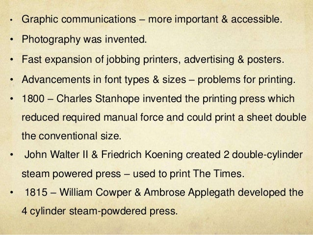 Graphic design and the industrial revolution new
