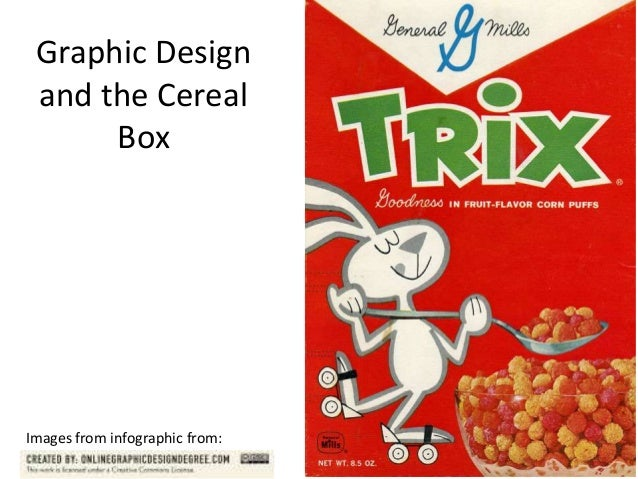 Graphic Design and the Cereal Box  Images from infographic from: