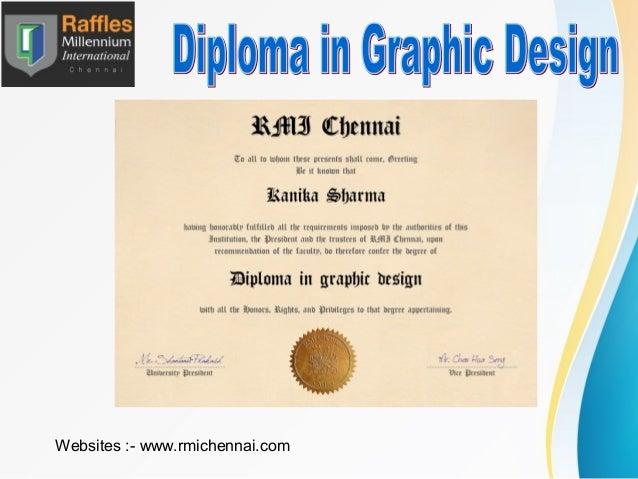 graphic design diploma and degree from rmi chennai