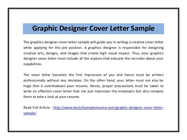 Superb Graphic Designer Cover Letter ...