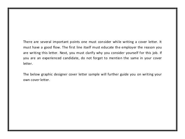 Cover Letter Examples For Graphic Designers