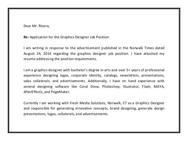 cover letters for graphic design jobs - graphic designer cover letter sample pdf