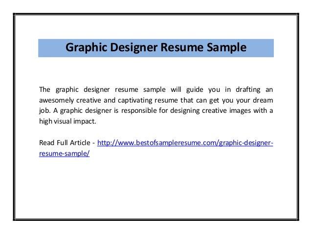 graphic designer resume pdf