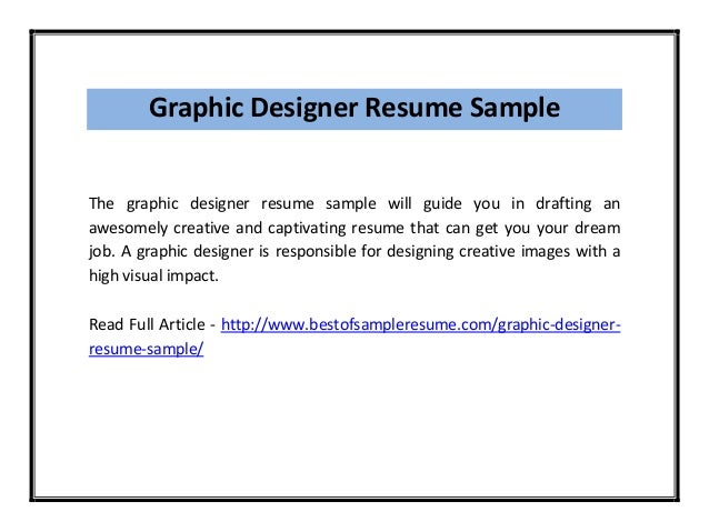 graphic designer resume objective - Graphic Designer Resume Objective Sample