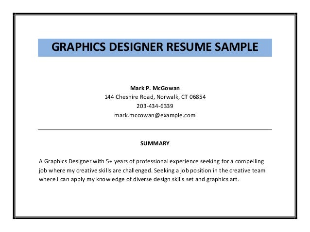 graphics - Graphic Design Resume Samples Pdf