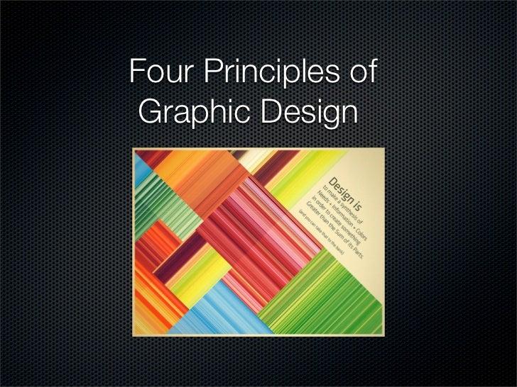 Four Principles of Graphic Design