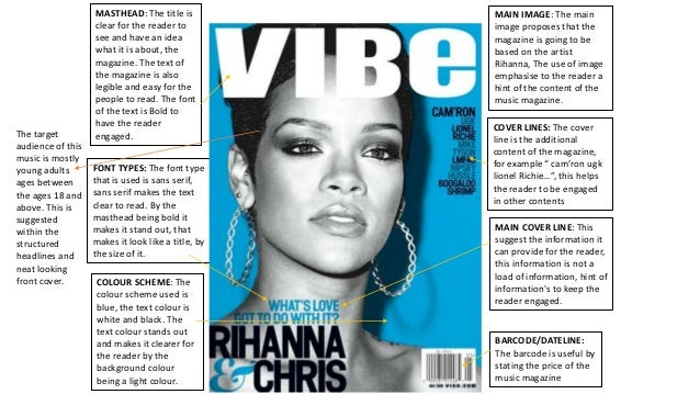 Analysis Of Graphic Elements In Music Magazine Covers