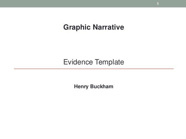 Graphic Narrative Evidence Template Henry Buckham 1