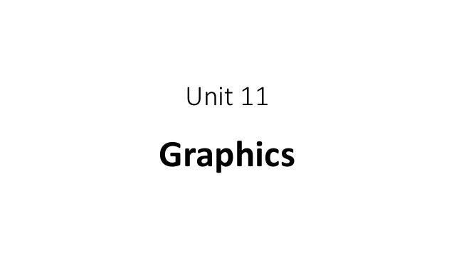 Unit 11 Graphics