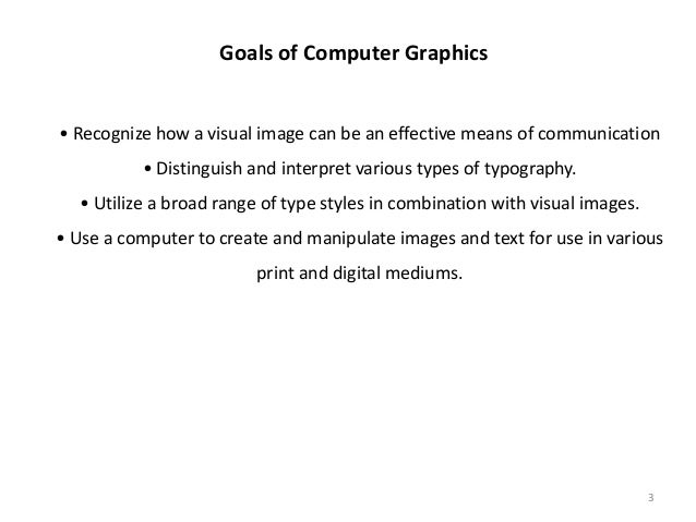 Overview of Computer Graphics