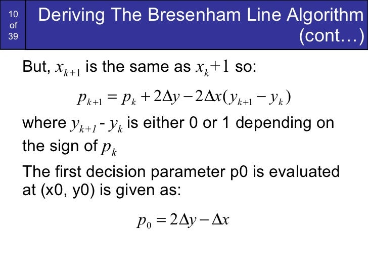 Bresenham Line Drawing Algorithm Negative Slope : Graphics bresenham circlesandpolygons