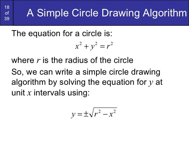 Bresenham Line Drawing Algorithm Solved Problems : Graphics bresenham circlesandpolygons