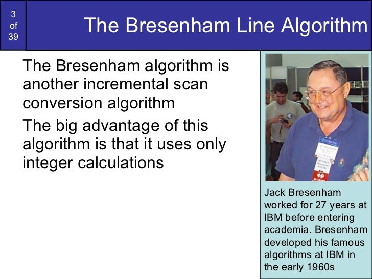Bresenham Line Drawing Algorithm Advantages : Graphics bresenham circlesandpolygons