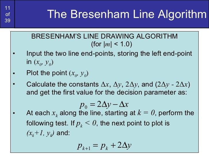 Line Drawing Algorithm Derivation : Graphics bresenham circlesandpolygons