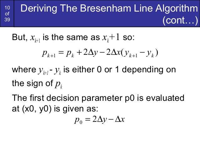 Bresenham Line Drawing Algorithm Steps : Bresenham circles and polygons in computer graphics
